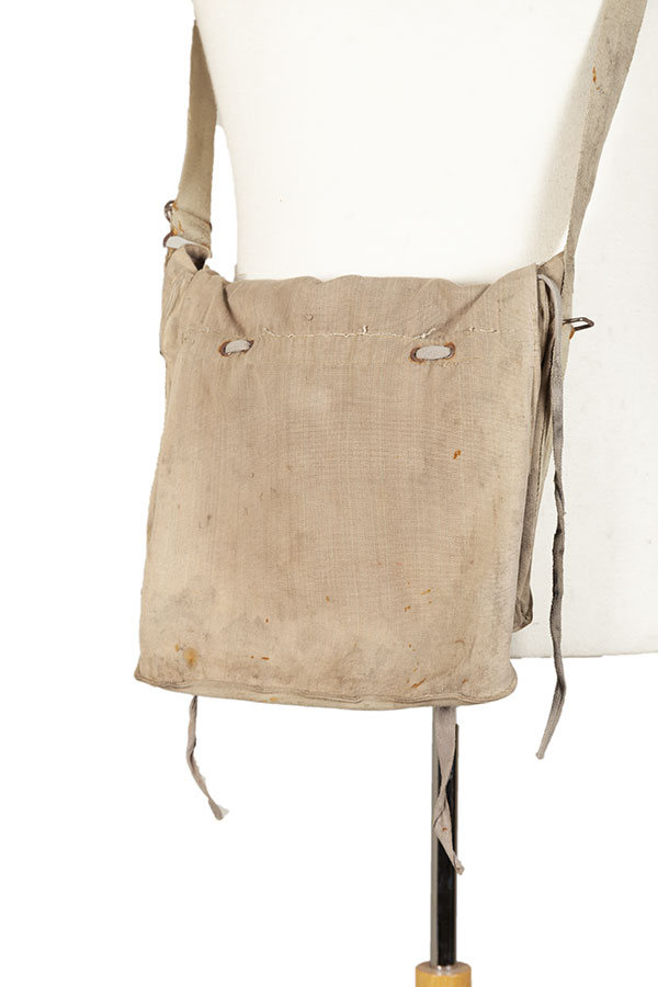 WWII linen military gas mask bag
