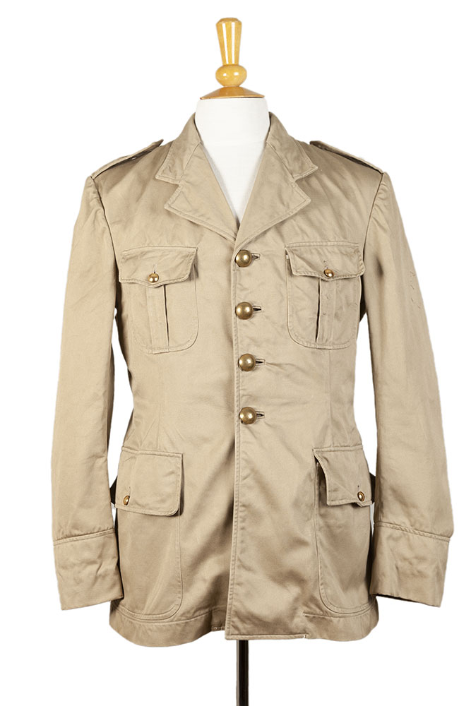 1950's french army officer linen jacket