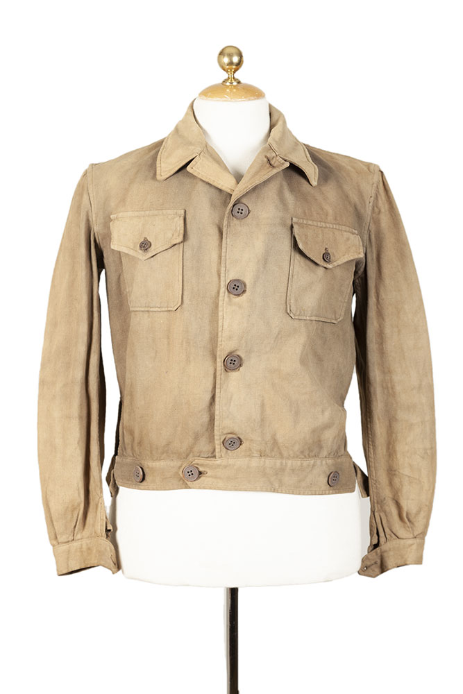 1940's french linen cycliste jacket