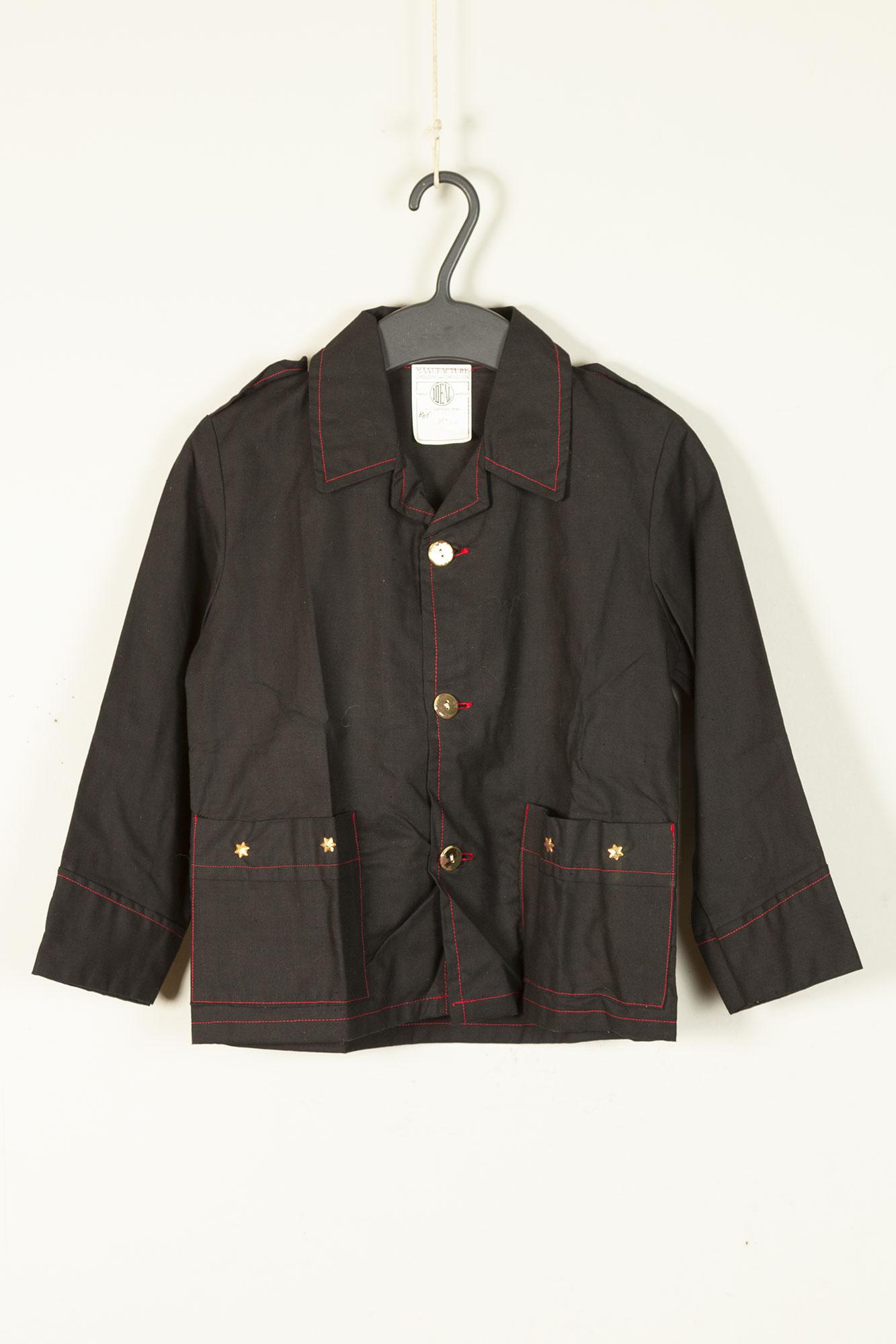 1950's deadstock french black linen jacket for