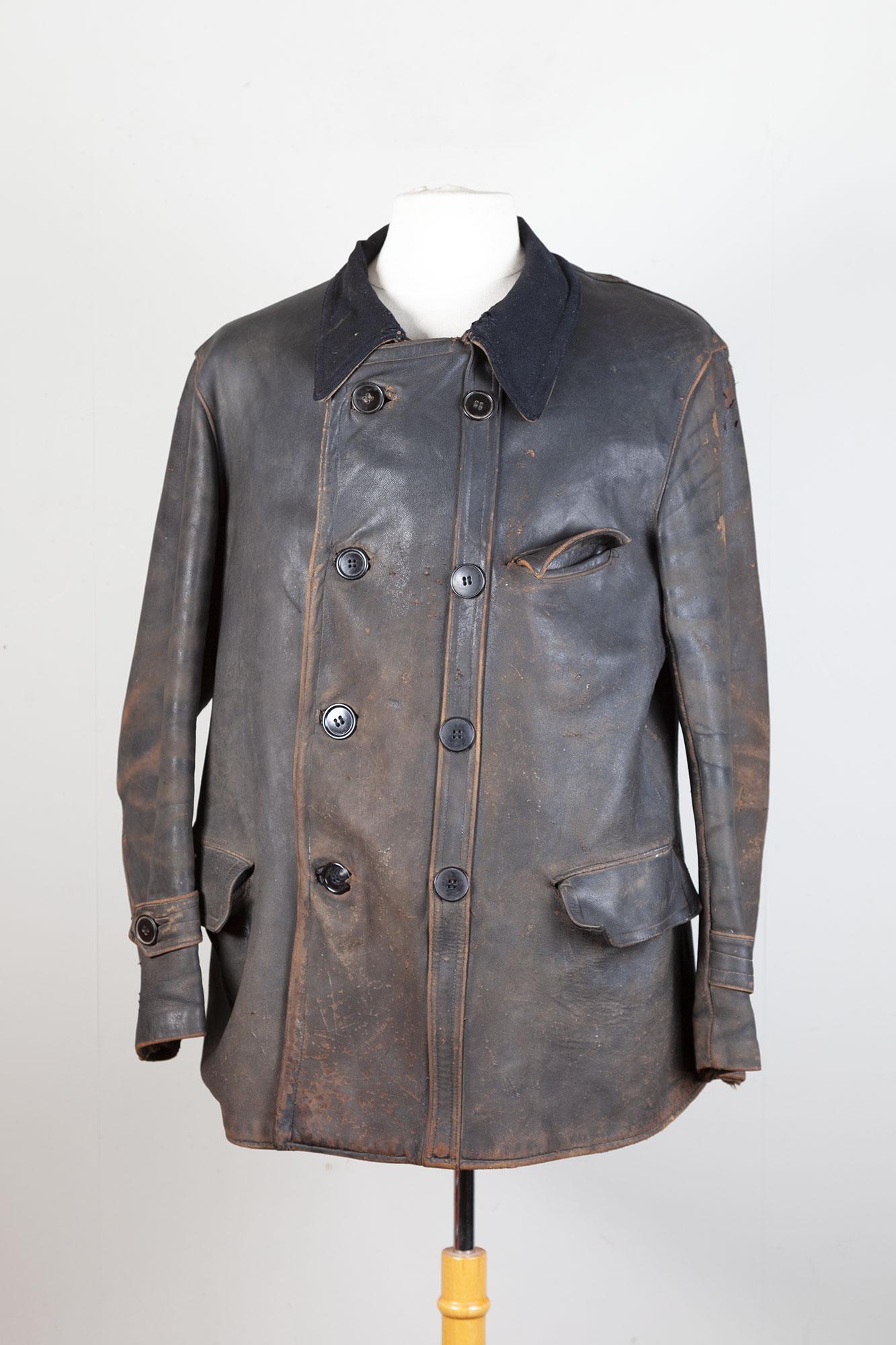 1930's Adolphe Lafont leather work shore jacket