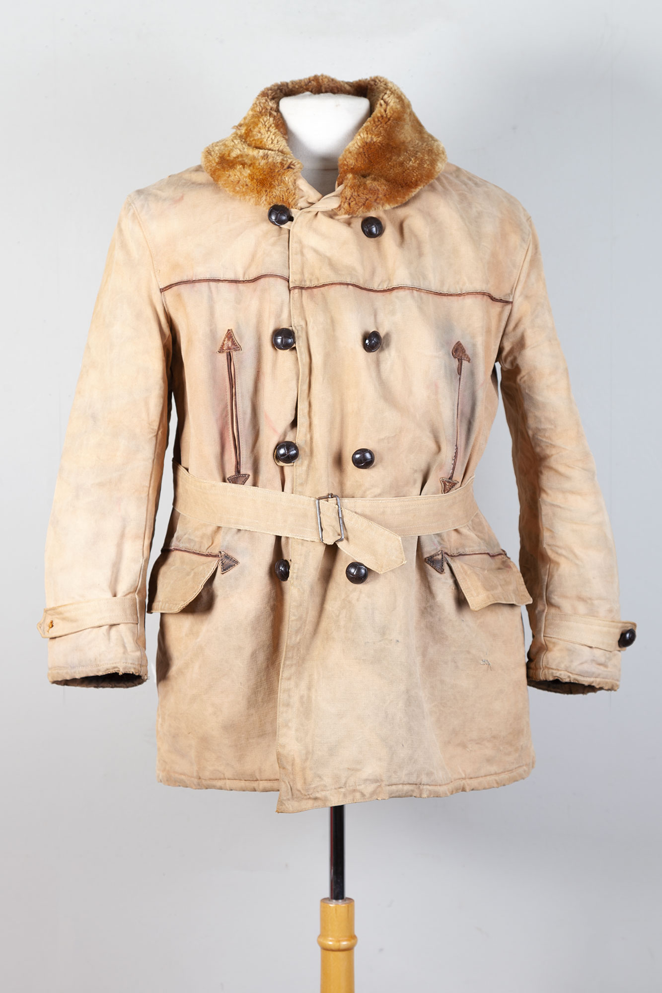 1950's french canvas canadienne coat