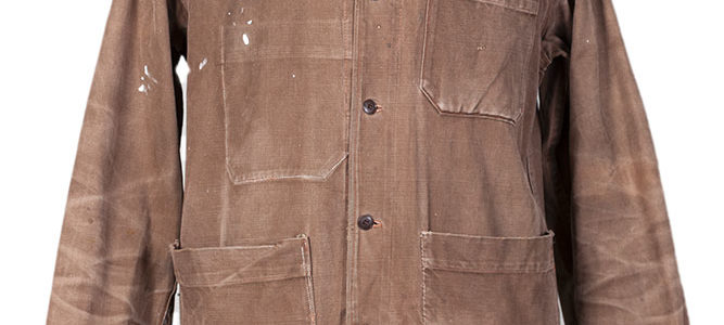 1950's french brown cotton work jacket