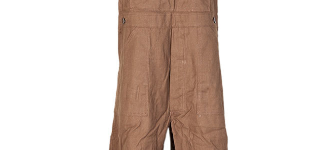 1950's deadstock french Le Pigeon Voyageur brown canvas overalls