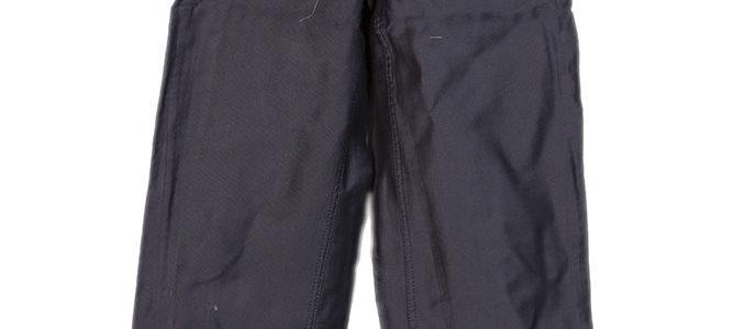 1960's deadstock french black moleskin pants