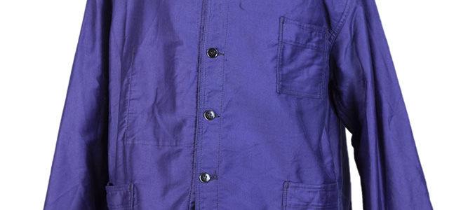 1960's french deadstock blue moleskin work jackets