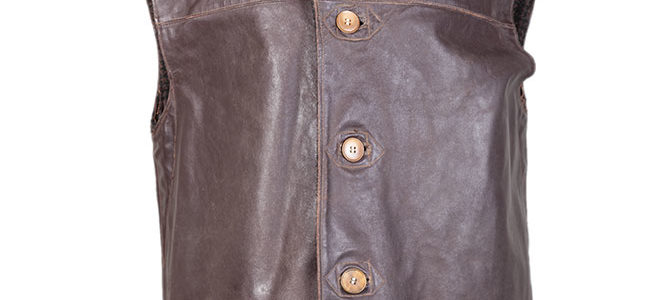 1950's deadstock belgian leather work jerkins