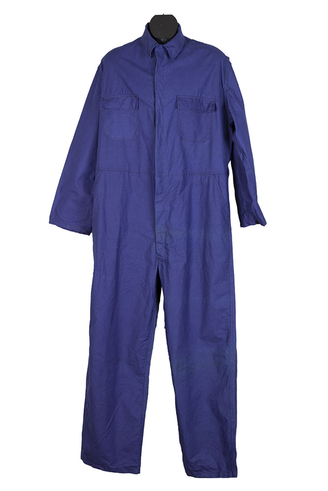 1950's deadstock french indigo linen Le Pigeon Voyageur coverall
