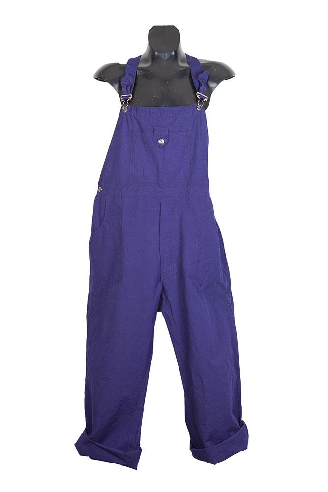 1950's french Le Pigeon Voyageur indigo linen overalls