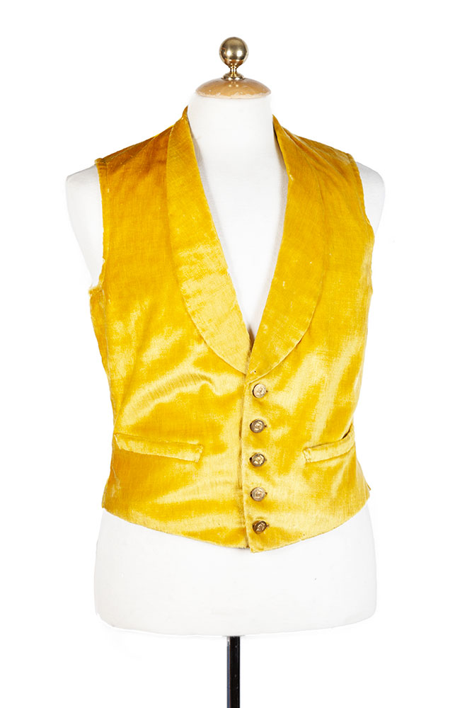 Mid century french butler silk vest