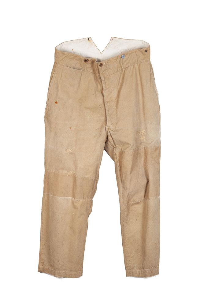 1930's french postman beige linen pants