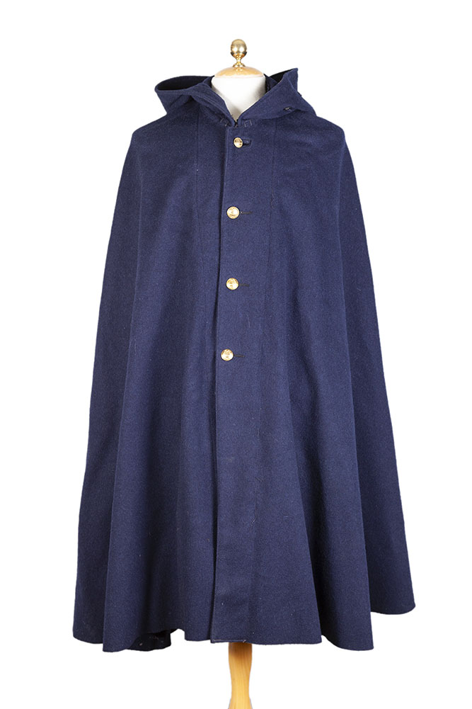 1953 french postman dark blue wool cape
