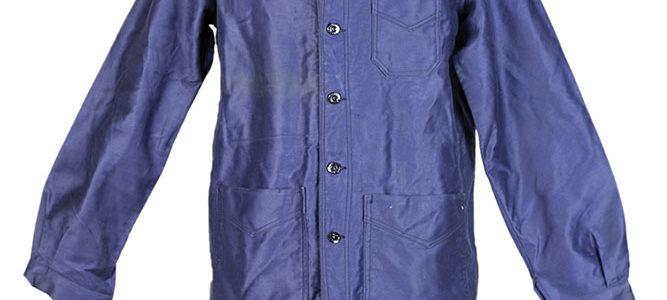 1950's deadstock french blue moleskin jacket