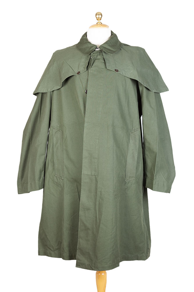 1950's deadstock french army kaki cape coat