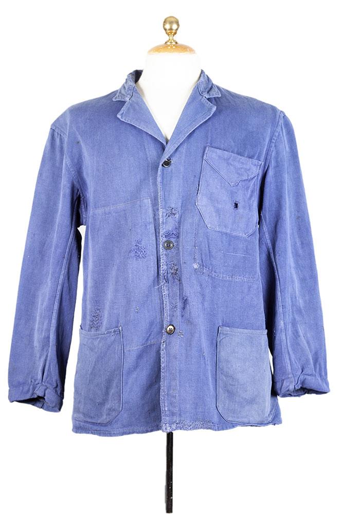 1950's Belgian blue moleskin work jacket