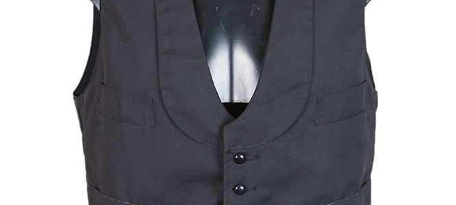 1960's Au Molinel 'garçon de café' black vest