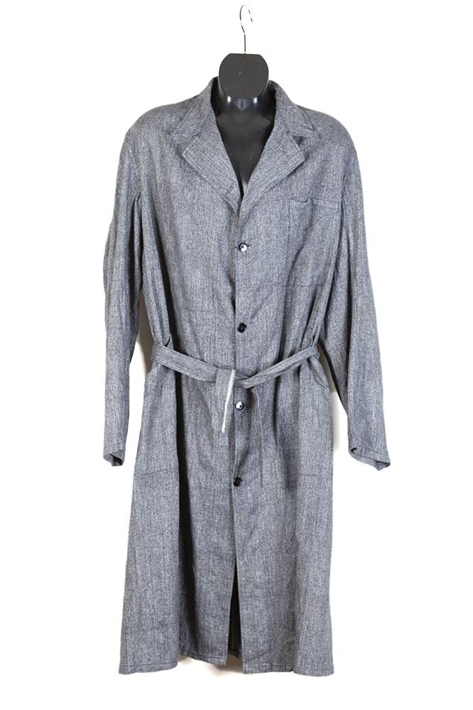 1950's salt and pepper chambray linen atelier coat