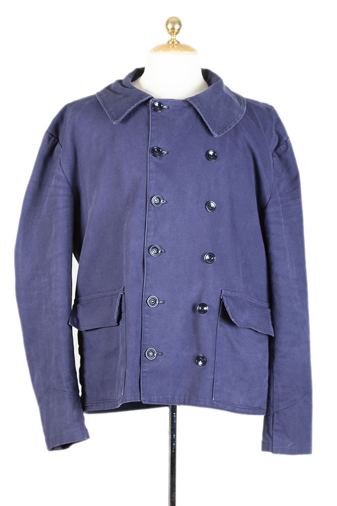 1950's double-breasted cotton canvas work jacket