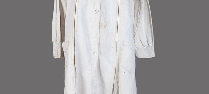 1930's woman linen work coat