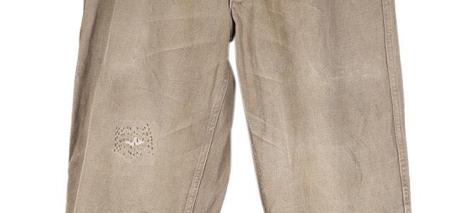 1950's french Molinel grey denim work pants