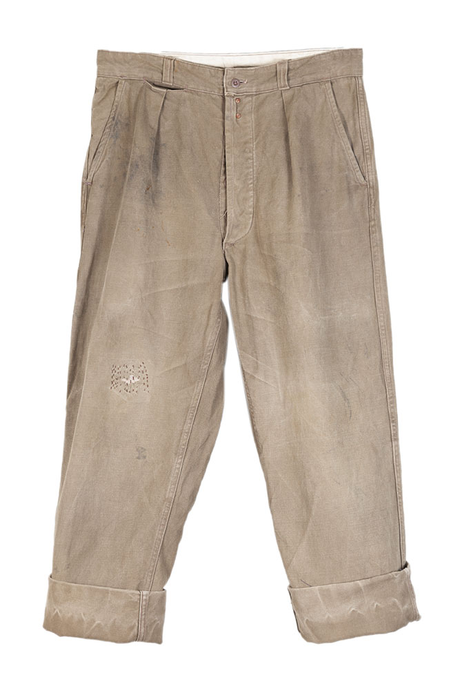 1950's french Molinel grey denim work pants