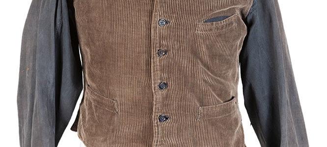1930's Belgian brown cord work vest (long sleeves)