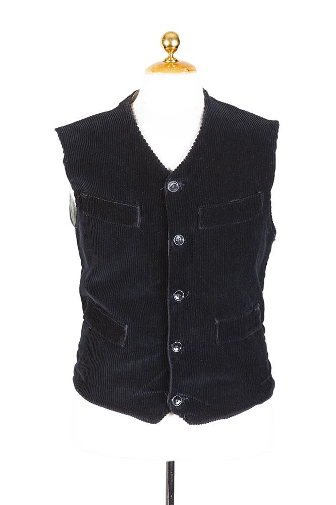 1950's Belgian black cord work vest