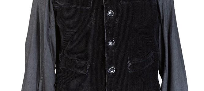 1950's Belgian black cord work vest (long sleeves)