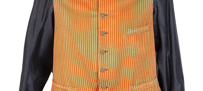 1930's belgian long sleeves lined servant gilet (2)