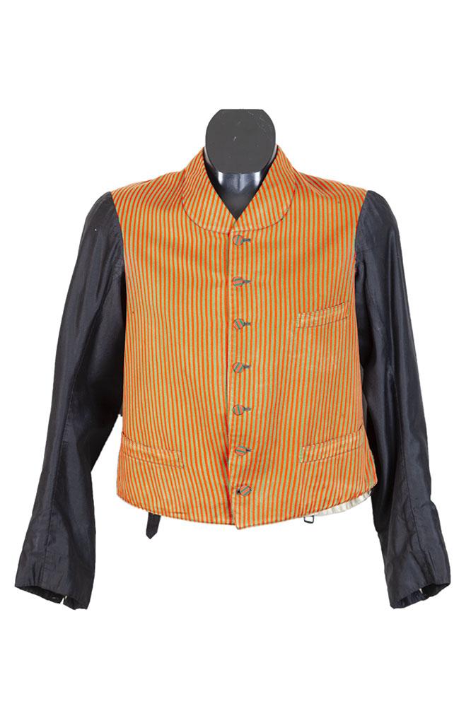 1930's belgian long sleeves lined servant gilet