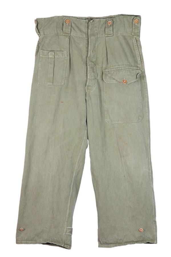 1950's Belgian army kaki pants