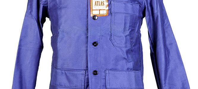 1950's NOS french Atlas blue moleskin work jacket