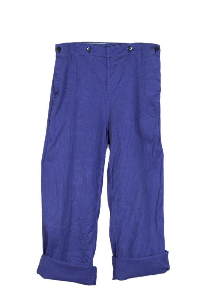 1950's Belgian naval army blue work deck pants