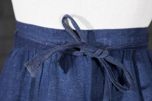 1930's french indigo linen work apron
