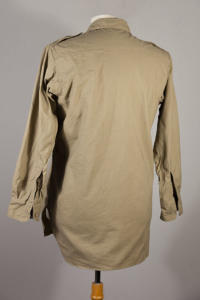 1950's french army beige linen shirts, militarygarment, militaryshirt, lemagasin, le magasin, vintageclothing