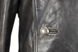 1940's German leather double breasted peacoat