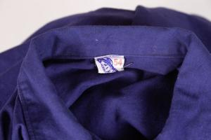 1960's Belgian indigo linen jacket, lemagasin,  vintage clothing, french workwear, antique clothing, french antique clothing