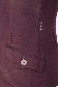 1930's french brown wool jacket, lemagasin, le magasin
