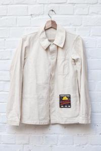 1950's french raw linen chore jacket