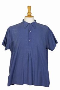 1940's french indigo linen work shirt, lemagasin,  vintage clothing, french workwear, antique clothing, french antique clothing