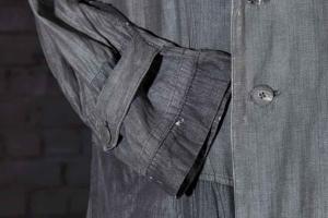 1950's french double-breasted herringbone atelier coat