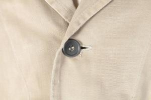1950's Belgian beige linen atelier coat, lemagasin,  vintage clothing, french workwear, antique clothing, french antique clothing