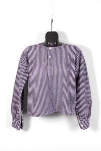 1930's french striped cotton henley, LEMAGASIN LE MAGASIN