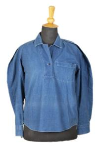 1980's Kenzo indigo cotton woman shirt, lemagasin, le magasin