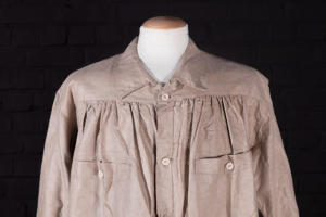Early 1900's french raw linen long coat
