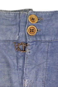 1930's french patched & mended moleskin work pants, lemagasin, le magasin