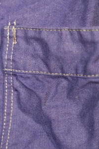 1950's french indigo linen chore jacket