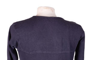 1950's french navy blue lace sweat shirt, lemagasin, le magasin