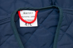 1970's french Renault blue quilted jacket