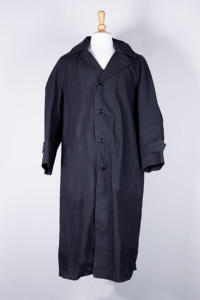 1940's french Samoc waterproof serge long coat, lemagasin, le magasin